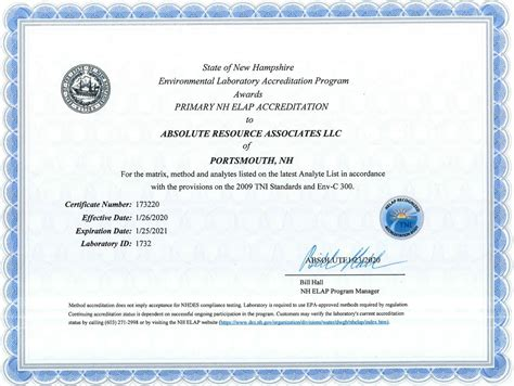 environmental lab certifications absolute resource