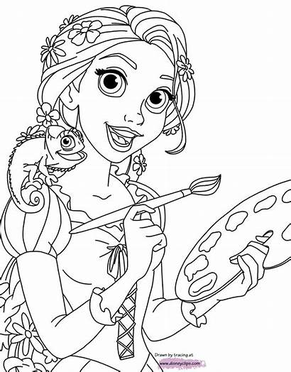 Rapunzel Tangled Coloring Pascal Pages Painting Pdf