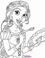 Coloring Tangled Rapunzel Pascal Pages Disneyclips Pdf Disney Printable Painting sketch template