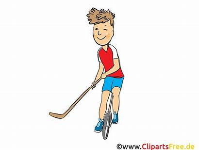 Hockey Clipart Street Ball Cartoon Comic Bild