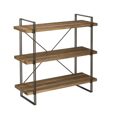 Wood Etagere by Brown Wood 3 Tier Etagere Open Bookcase 17989 The