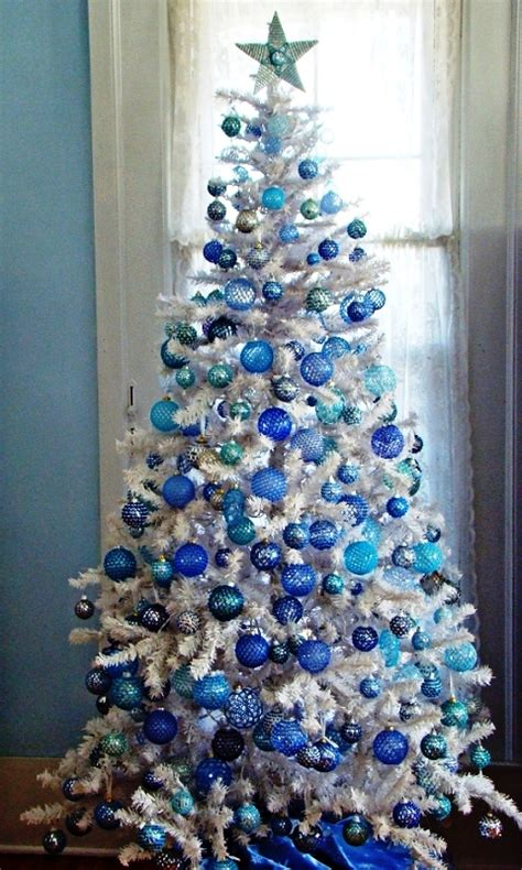 white  blue christmas decorations ideas decoration