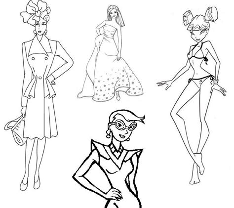 stylish page fashion design coloring pages coloring home