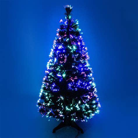 fiber optic christmas tree 5ft 3ft 4ft 5ft green fibre optic tree with multicoloured lights 90 150cm