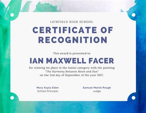 art contest award certificate templates  canva