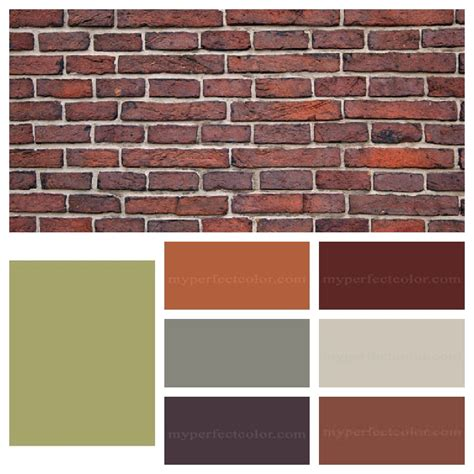 exterior paint colors with orange brick and photos