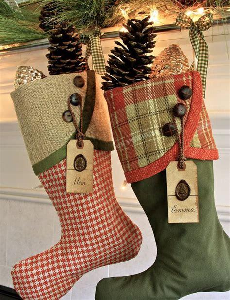 vintage christmas stockings ideas  pinterest