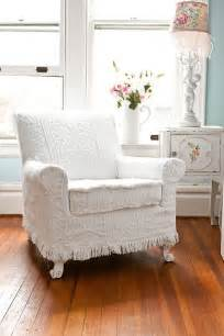 shabby chic vintage chair antique chair white vintage matelasse bedspread shabby chic cottage slipcover cottage chenille