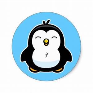 Baby Penguin Cartoon Stickers | Zazzle