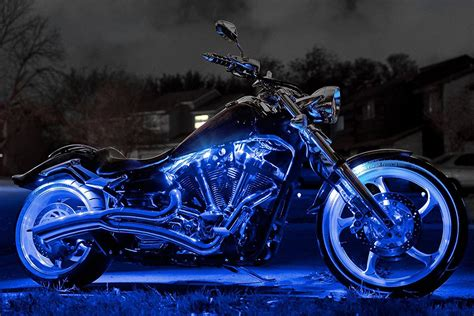 underglow lights for motorcycles xkglow xk034001 b blue single color motorcycle