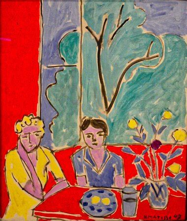 Two Girls, Red and Green Background, Henri Matisse, 1947 ...
