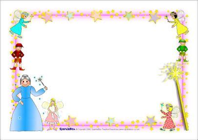 fairy themed  page borders sb sparklebox page