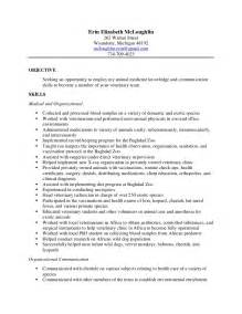 veterinary technician resume search erin vet tech resume