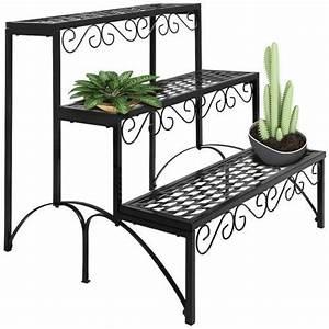 Etagere Pour Fleur : etagere jardin metal pot porte fleurs plantes 60x70x60cm ~ Zukunftsfamilie.com Idées de Décoration