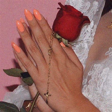 pin  larissa abu dayyeh  nails   gold rosary