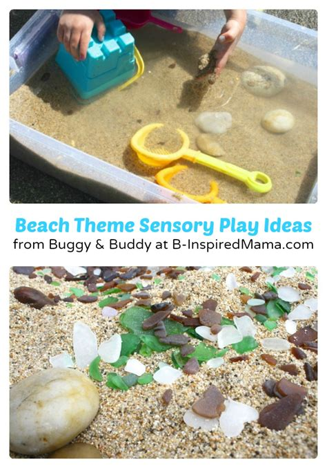 preschool theme sensory play from the mamas b 639 | Preschool Beach Theme Sensory Play Ideas from Buggy Buddy at B InspiredMama