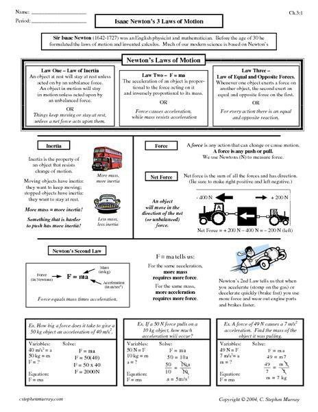 newtons laws  energy worksheet google search
