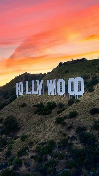 Hollywood Angeles Sunset Inscription Word Iphone Rocks