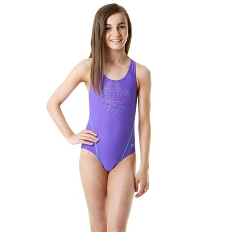 purple side table speedo endurance 10 logo splashback swimsuit