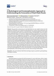 A Hydrological and Geomorphometric Approach to ...