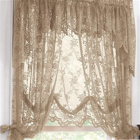 sears sheer lace curtains wholehome classic tm mc scalloped lace balloon