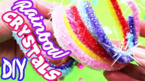 diy rainbow crystals step  step easy toy