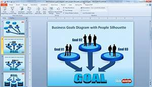 Business Goals Diagram Template For Powerpoint With People