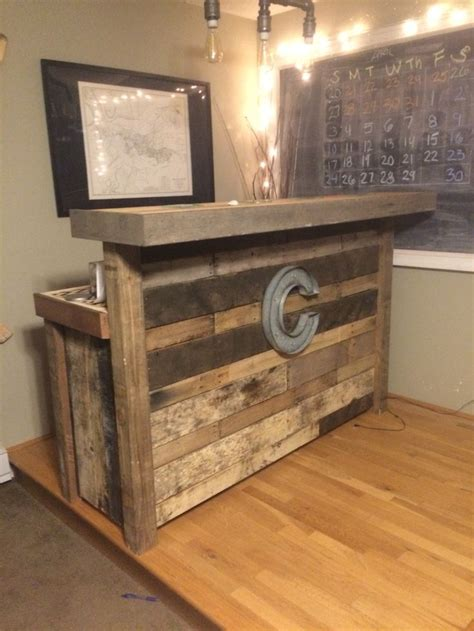 Simple Bar by Reclaimed Wood Bar Made From Pallets For The Home In