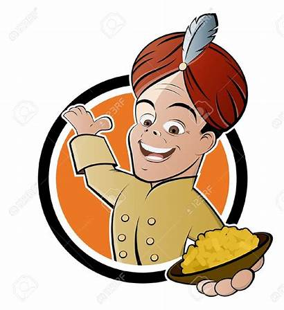 Indian Curry Clipart Restaurant Funny Rice Vector