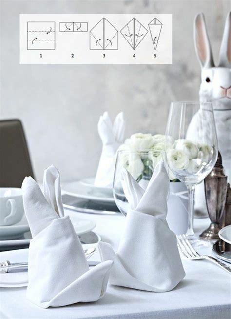 servietten hasen falten servietten falten und eine kreative tischdeko zu ostern kreieren
