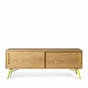 Meuble Tv Pied Metal : meuble tv design et pratique ashburn ~ Teatrodelosmanantiales.com Idées de Décoration