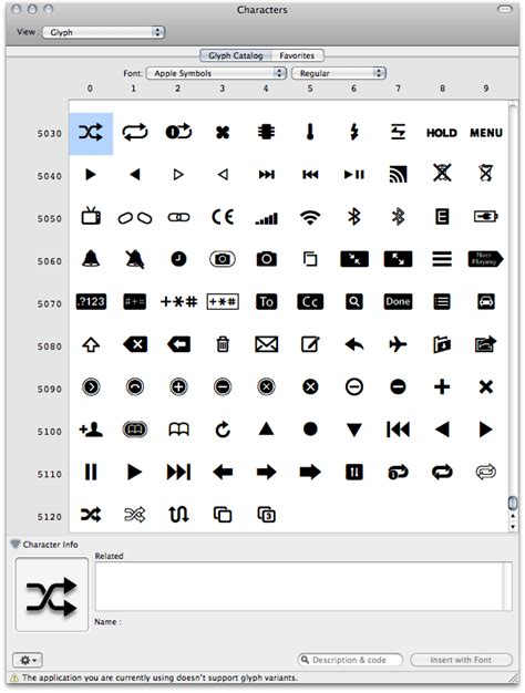 symbols on iphone the apple symbols font a great repository for iphone