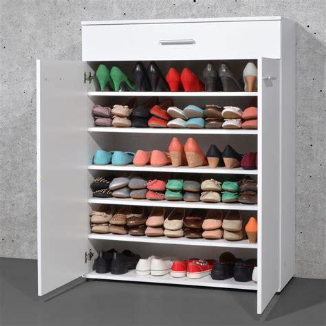 meuble pour chaussures meuble 224 chaussures 2 portes easy blanc 3675 084 achat vente meuble chaussures sur maginea