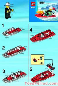Lego 4992 Fire Boat Set Parts Inventory And Instructions