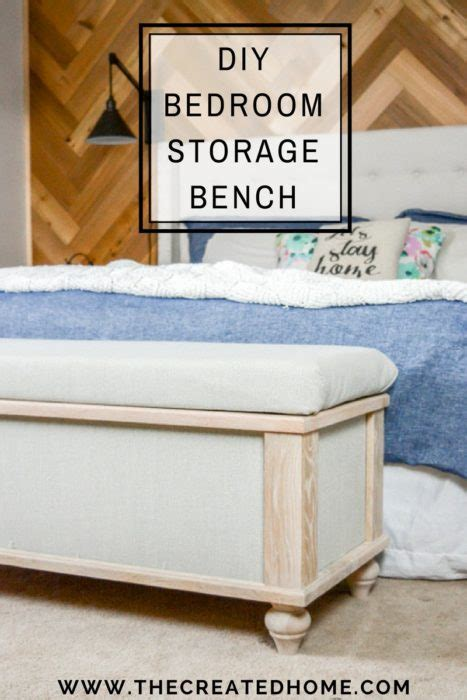 diy upholstered storage bench  created home