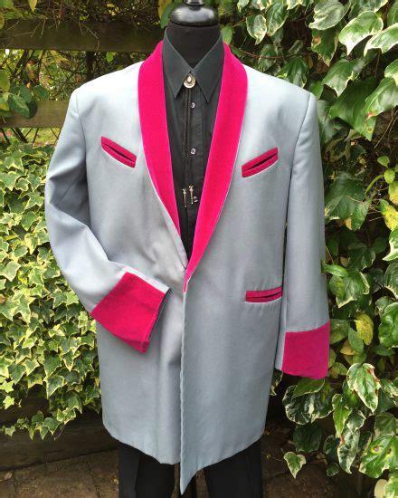 Suit Drape - masquerade grey pink teddy boy drape masquerade