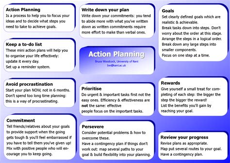 action plan     key components  successful