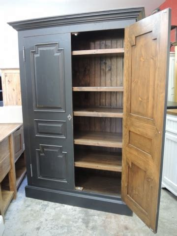 Armoire Noire  Atelier Meuble Rustique