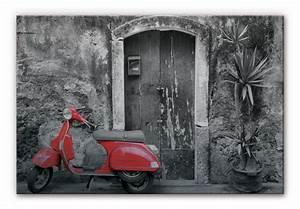 Bilder Schwarz Weiß Gemalt : alu dibond silber geb rstet red scooter schwarz wei stylische deko f r die wand wall ~ Eleganceandgraceweddings.com Haus und Dekorationen