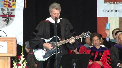 Watch Bon Jovi Writes Performs Song For Rutgers Camden