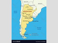 Argentine Republic Argentina map Royalty Free Vector Image