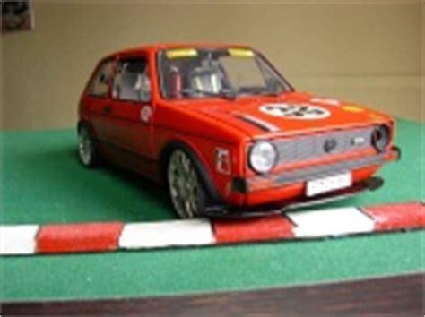 volkswagen golf  gti miniature rouge kit rieger extra