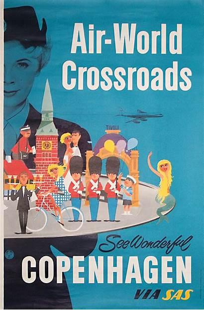 Poster Copenhagen Posters Sas Airline Wonderful Travel