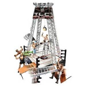 wwe tables ladders and chairs playset from mattel time