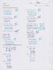 Unit 8 quadratic equations homework 5 solving quadratics by