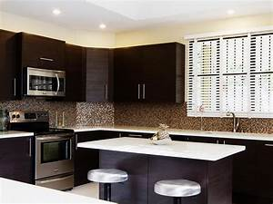 Kitchen : Contemporary Kitchen Backsplash Ideas With Dark ...