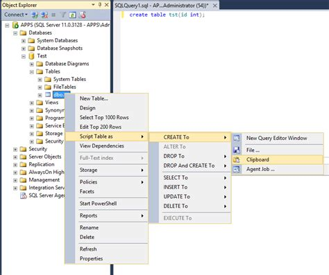 sql query to create table sql how to view query that was used to create a table