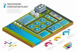 Infographic Concept Storage Tanks In Sewage Water Treatment Plant Illustration Scientific
