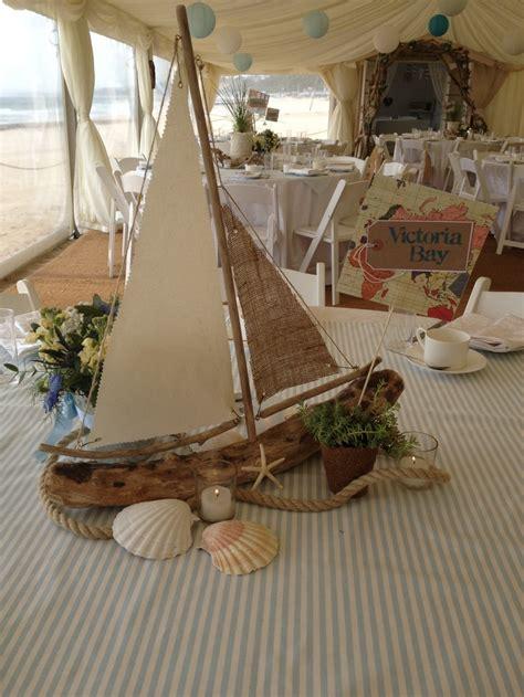 Boat Wedding Decoration Ideas by Driftwood Sailboat Centerpiece Wedding Decorations