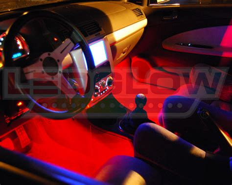 Cars Interior Light : Ledglow 4pc Red Led Interior Light Kit Universal For All